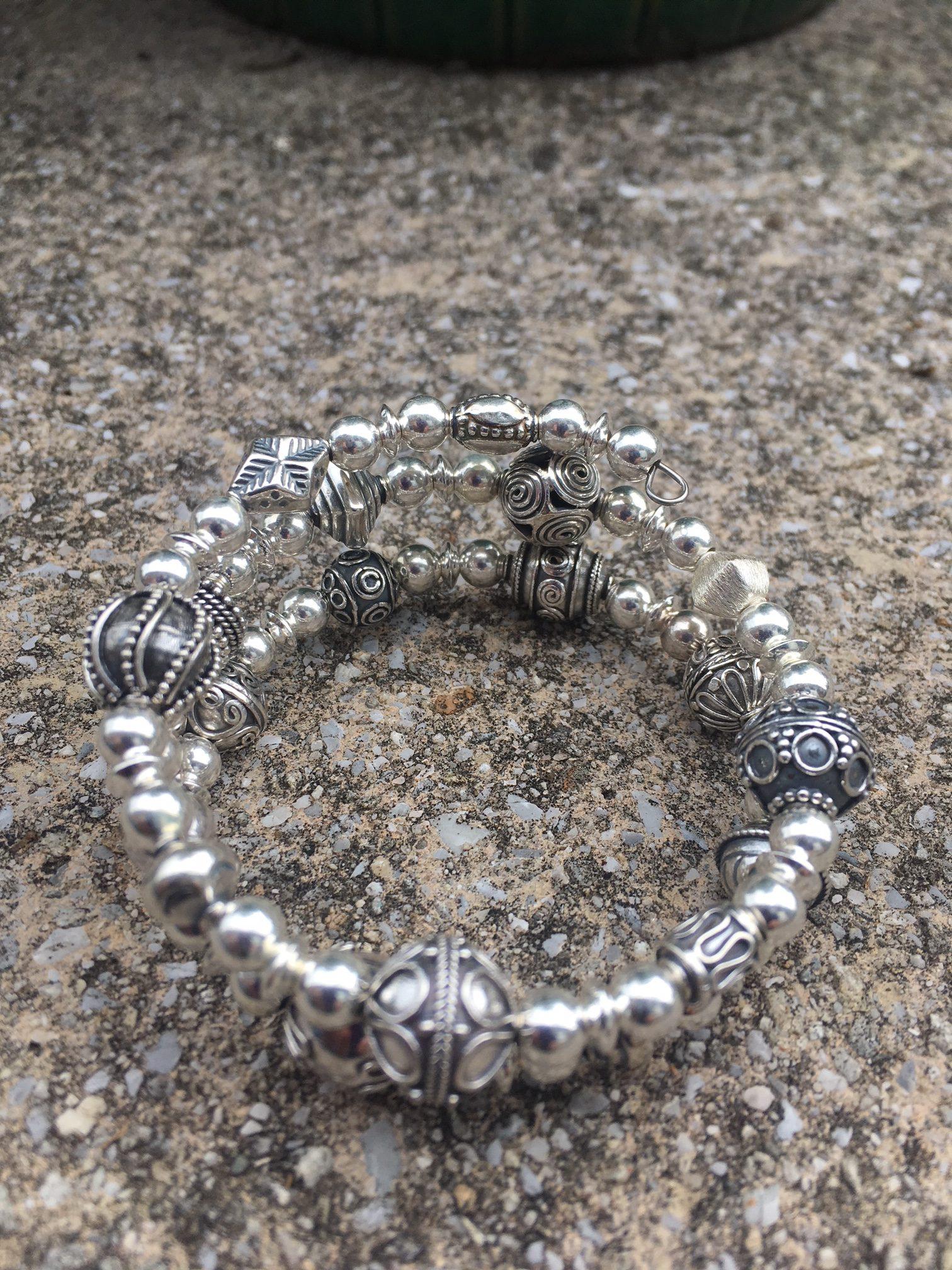 Bracelet Memory Wire Sterling Silver Designs Sanders